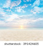 sand and beach with sunset | Shutterstock . vector #391424605