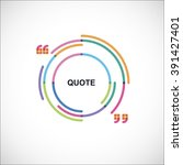 color frame with quotes | Shutterstock .eps vector #391427401
