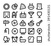 hotel   restaurant vector icons ... | Shutterstock .eps vector #391430131