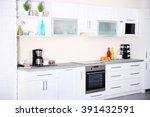 new modern kitchen interior | Shutterstock . vector #391432591