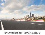traffic on city road through... | Shutterstock . vector #391432879