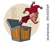 illustration celebrating april... | Shutterstock .eps vector #391433569