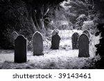 Grave Stones In The Snow In...
