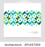 modern geometric abstract... | Shutterstock .eps vector #391437304