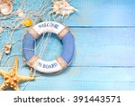 beach holiday marine travel... | Shutterstock . vector #391443571