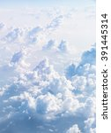 cloudscape blue sky and white... | Shutterstock . vector #391445314