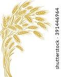 sheaf of ripe wheat ears as... | Shutterstock .eps vector #391446964