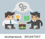 business sale manager selling... | Shutterstock .eps vector #391447357