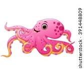cute octopus cartoon | Shutterstock .eps vector #391448809