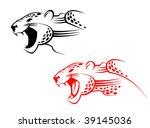 wildcat or jaguar head sign as... | Shutterstock . vector #39145036