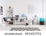picture of a modern baby room | Shutterstock . vector #391452751