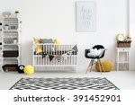 picture of a modern baby room... | Shutterstock . vector #391452901