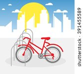 bike parking vector... | Shutterstock .eps vector #391455589