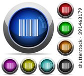 set of round glossy barcode...
