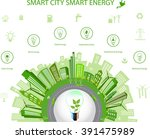 ecological city concept.smart... | Shutterstock .eps vector #391475989