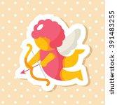valentine's day elements icon | Shutterstock .eps vector #391483255