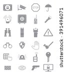 set of 24 grey guard icons | Shutterstock .eps vector #391496071