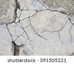 cracked concrete texture... | Shutterstock . vector #391505221