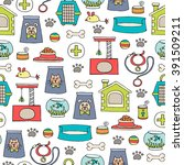 vector seamless pattern with... | Shutterstock .eps vector #391509211