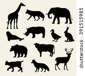animals icons vector... | Shutterstock .eps vector #391515985