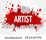 artist word cloud  creative... | Shutterstock .eps vector #391519795