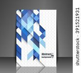 template flyer with abstract... | Shutterstock .eps vector #391521931