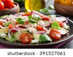 Fresh Vegetable Salad With Fet...