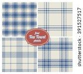 seamless french tea towel... | Shutterstock .eps vector #391527517