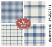 seamless french tea towel... | Shutterstock .eps vector #391527541
