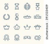 awards line icons | Shutterstock .eps vector #391533409
