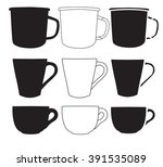 cup vector. cup silhouettes   Shutterstock .eps vector #391535089