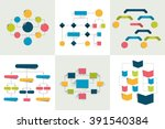 flowcharts. set of 6 flow... | Shutterstock .eps vector #391540384