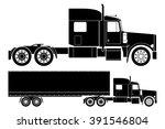 american semi truck vector   Shutterstock .eps vector #391546804