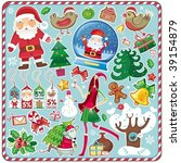 all christmas symbols in one... | Shutterstock .eps vector #39154879