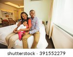 adorable african family at home | Shutterstock . vector #391552279
