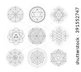 sacred geometry signs. set of... | Shutterstock .eps vector #391552747
