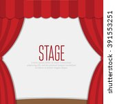 stage curtains with brown... | Shutterstock .eps vector #391553251