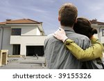 couple in  front of one family... | Shutterstock . vector #39155326