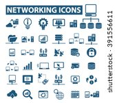 networking icons  | Shutterstock .eps vector #391556611