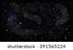 starry night sky space vector... | Shutterstock .eps vector #391565224