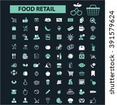 food retail icons  | Shutterstock .eps vector #391579624