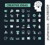 creative ideas icons  | Shutterstock .eps vector #391580509