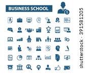 business school icons    Shutterstock .eps vector #391581205