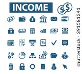 income icons  | Shutterstock .eps vector #391581241