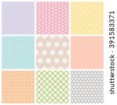 set of seamless dots patterns | Shutterstock .eps vector #391583371