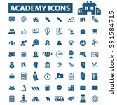 academy icons  | Shutterstock .eps vector #391584715