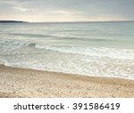 beach in peninsula kassandra... | Shutterstock . vector #391586419