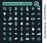 marketing plan  research icons  | Shutterstock .eps vector #391593961