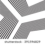 black and white mobious wave... | Shutterstock . vector #391596829