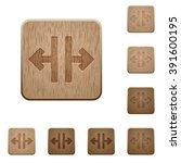 set of carved wooden vertical...